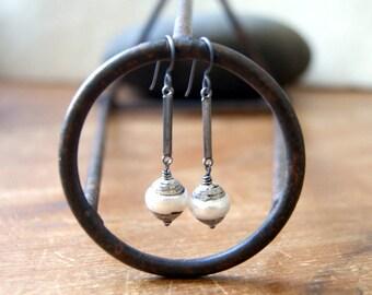 Tibetan Pearl Earrings - June birthstone