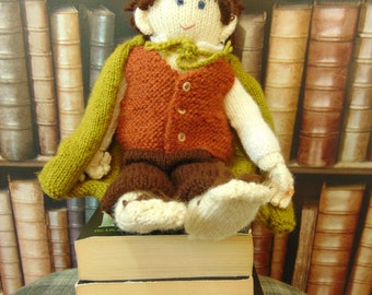 Hand-knitted Frodo Baggins