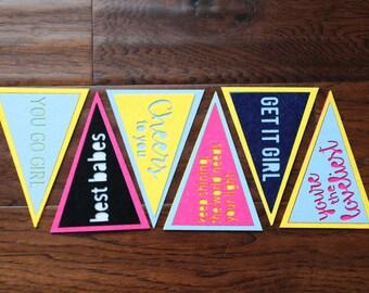 felt pennant cards