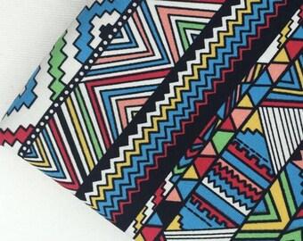 Pretty geometric drawing Cotton Canvas Fabric 45*150 cm DIY fabric 1/2y
