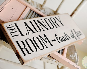 Handcrafted ...The Laundry Room Sign