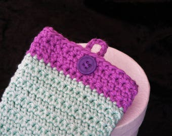 Mint Green and Purple Cell/Mobile Phone Cover/Cosy