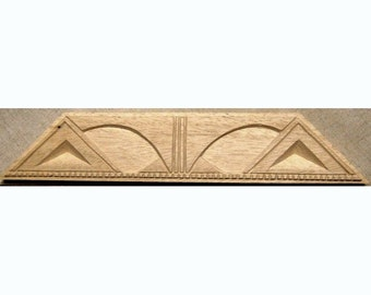 Oshiwa Carved Wood Printing Stamp, Tribal Design, 13.25''x 2.5'', Item 22-2-111