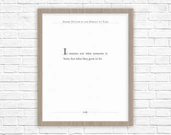 Harry Potter Quote | J K Rowling quote | Nursery Decor for Baby | Harry Potter Nursery | Potter Book Quote | It matters not Quote