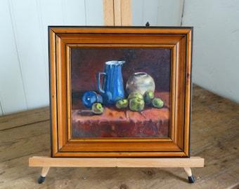 Still Life with Blue Jug (Original Oil Painting)