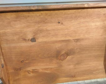 Primitive Country Walnut Stain Stove Noodle Board Serving Tray