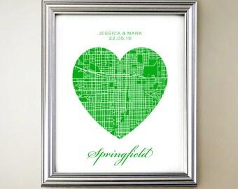 Springfield Heart Map
