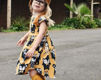 Pearlie Dress Everyday Tee Shirt Dress & Peplum Top Pdf Sewing Pattern for Girls Sizes 1-12