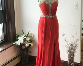 Prom Dress Bright Deep Pink
