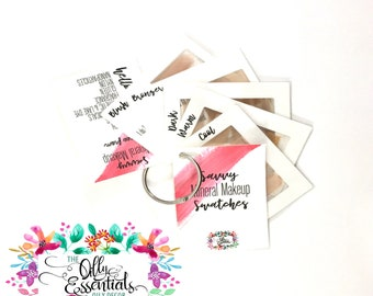 Savvy Mineral Makeup Swatches - Match Cards - Savvy Makeup - Savvy Swatches - Savvy Labels - Savvy Tools