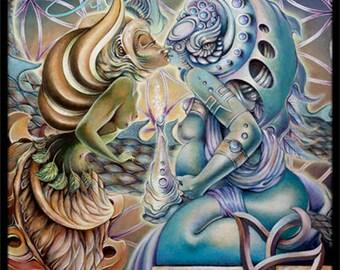 "9""x12"" Eco Art Print - ""The Kiss of Motherpeace"" by JAH Ishka Lha"