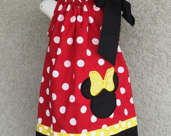 Minnie Mouse Red Polka Dot Vintage Pillowcase Dress