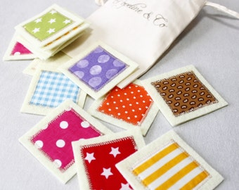 Matching Cards, Busy Bags, Fabric Memory Toddler Game, Montessori, Matching Color Game, Waldorf, Kids Gift, Children Toys