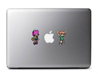Scott and Romona Retro 8-Bit Vinyl Decal