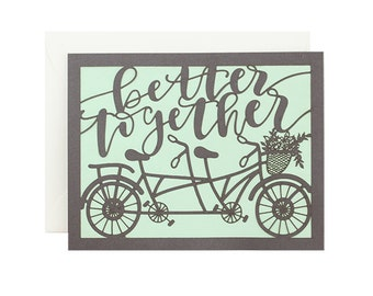 Better Together Bicycle Laser Cut Card