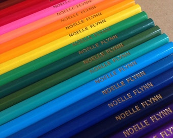 24 Personalised Colouring Pencils - Custom Printing
