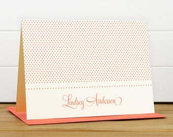 Personalized Stationery Set / Personalized Stationary Set - SWEETHEART Custom Personalized Notecard Set - Feminine Pretty Teacher Thank You