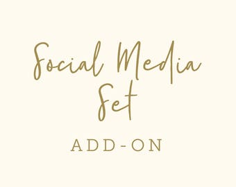 Social Media Set for Premade Logo, Facebook Twitter Instagram Brand Set, Social Media Header, Facebook Profile Image, Facebook Cover Photo
