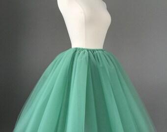 Tulle Skirt - Adult Bachelorette Tutu- adult tutu, adult tulle skirt, sage green moss green. More colors available