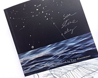 EBOOK Sea, Sky and Stone - original artist sketchbook art book