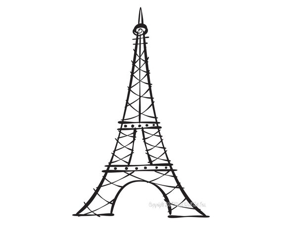 Eiffel tower vinyl decal size small home decor office decor thecheapjerseys Choice Image