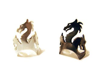 Game of Thrones Dragon ring, Khaleesi Dragon Silver Ring, Ring of Targaryen House
