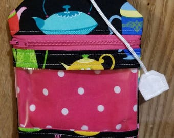 notions pouch RF Family Size tea bag for knitting crochet storage teapots