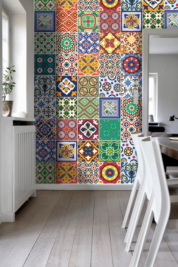 keuken tegels stickers : Traditionele Spaanse Tegels Stickers Keuken Tegels