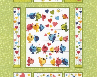 Fabric Susybee Evie the Bird Panel by Susybee in Juvenile SB20271-830