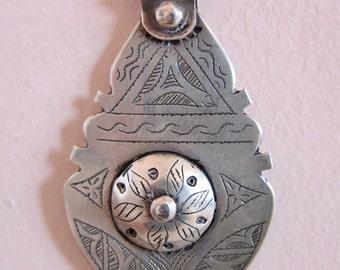 Berber Silver Pendant Morrocan Sahara