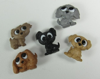 Assorted Puppy Dog Novelty Buttons
