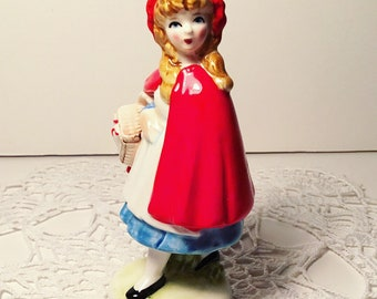 Vintage Porcelain Red Riding Hood Figurine