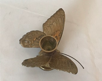 Vintage Brass Butterfly Candle holder