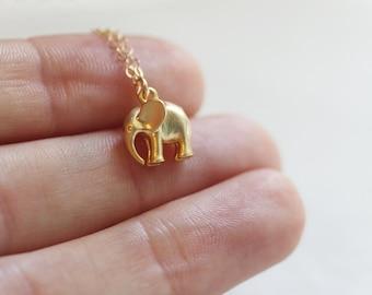 Elephant Necklace | Gold Elephant Necklace
