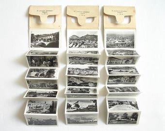 Vintage 30 Souvenir Postcards Booklet of Bulgaria. Set of 3 Vintage Bulgarian Souvenir Photos 1950s. Travel Memorabilia, Collectibles
