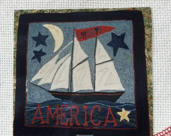 Liberty Ship, Rug Hooking Pattern