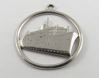Cruise Ship Sterling Silver Charm or Pendant.
