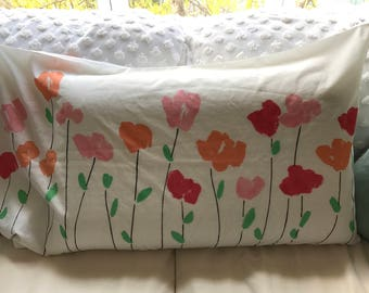 "1970s Vera Neumann King Sized ""Poppies"" Pillowcase / Vera Pillowcase / 1970s"