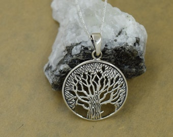 Sterling Silver Tree of Life with Celtic Design Including Chain