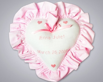 Custom Personalized Baby Girl Pillow