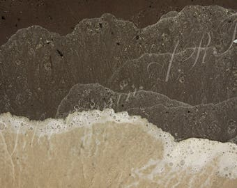 Before disappearance /Artistic sea pattern / Decorative, abstract, interior, gift photography / Printed on Aluminium Dibond