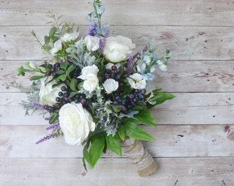 Boho Wedding Bouquet, Fall Bouquet, Boho Bouquet, Silk Flowers, Silk Bouquet, Wedding Bouquet, Bridal Bouquet, Wedding Flowers, Faux Bouquet