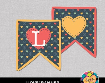 Love Banner. Love Banner. Printable File *INSTANT DOWNLOAD*