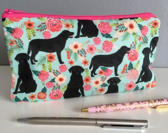 Black Labrador retriever pencil case. Yellow Labrador Retriever. Mother's Day. Easter gift. Dog gift.
