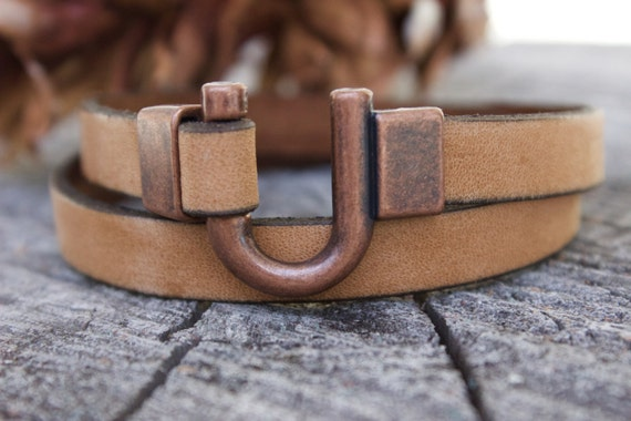 Mens Copper Bracelet Copper Gifts for Men Mens Leather