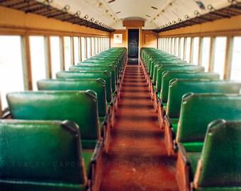 Train Photograph - Color Photography, Train Home Decor - The Journey - Etsy Wall Art, Train Wall Decor, Vibrant Decor, Boys Room Decor