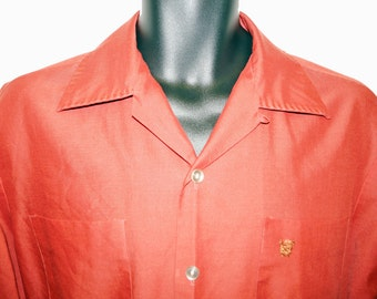 1950s Mens Long Sleeve Dress Shirt Sz M Vintage Retro
