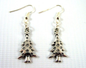 Christmas Tree Earrings - Christmas Earrings - Festive Earrings - Yule Earrings