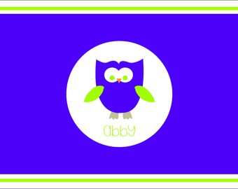 Owl Personalized Placemat