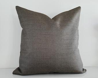 Charcoal Pillow, Grey Pillow, Gray Pillows, Taupe Pillow, Decorative Pillow Cover, Solid, Cushions, Contemporary, Lumbar 12x18, 18x18, 14x20
